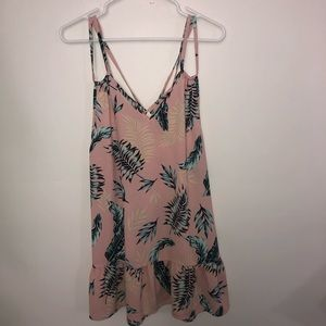 Miken Swim Pink Tropical Strappy Coverup